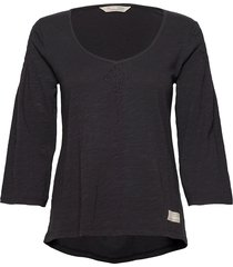 elly top t-shirts & tops long-sleeved zwart odd molly