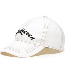 rainbow topstitch logo embroidered cap