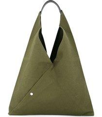 cabas medium triangle tote - green
