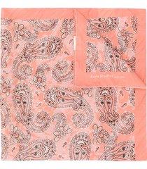 acne studios paisley print bandana scarf - pink