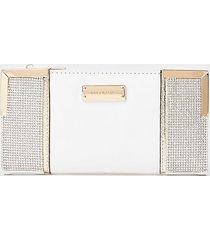 river island womens white heatseal metal corner purse