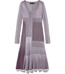 patchwork knit dress