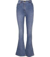 balmain high waist denim bootcut jeans