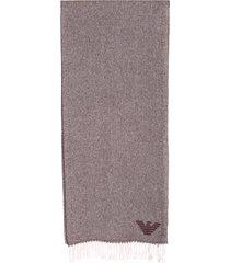 emporio armani cashmere chevron scarf