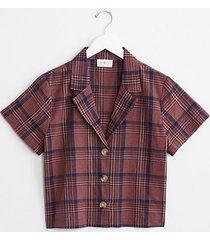 lou & grey plaid button shirt