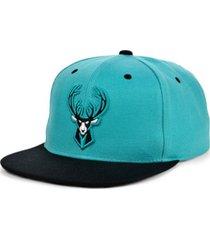 mitchell & ness milwaukee bucks minted snapback cap