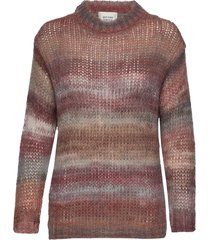 lolla knit o-neck gebreide trui bruin second female