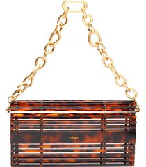 'sylva' chain handle acrylic cage shoulder bag