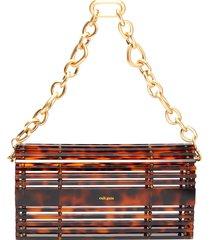 'sylva' chain handle acrylic cage shoulder bag