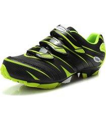 zapatillas ciclismo tiebao  mtb - negro/verde