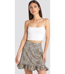 karo kauer x na-kd flounce mini skirt - multicolor