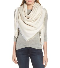 women's tory burch traveler logo jacquard wool & silk scarf