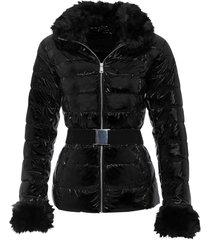 giacca con ecopelliccia (nero) - bodyflirt boutique