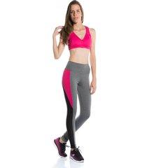 calça legging pinyx neon clubber mescla e rosa