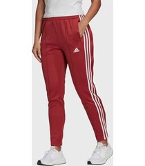 pantalón de buzo adidas performance w mh snap pant rojo - calce regular
