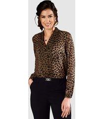 blouse paola goudkleur::zwart