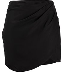 gauge81 kobe draped mini skirt - black