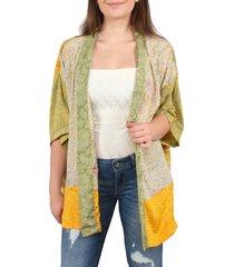 sissel edelbo lotus kimono short geel