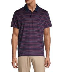 bonobos golf men's the performance striped golf shirt - navy - size s