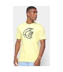 camiseta pretorian masculina estampa gola careca conforto amarelo p amarelo