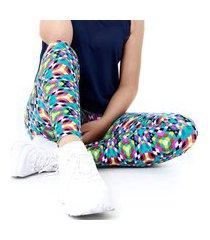 calça gumii legging gumii athletik lyon, 3d colorido multicolorido