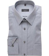 eterna overhemd strijkvrij grijs comfort fit
