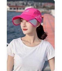 verano salvaje damas sol sombrero-rosa