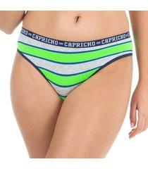 calcinha boneca listras verde capricho college - 520.023 capricho lingerie boneca multicolorido