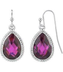 2028 silver-tone teardrop earrings