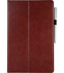 moda negocios vintage tablet funda de cuero de vaca caso de ficha de s