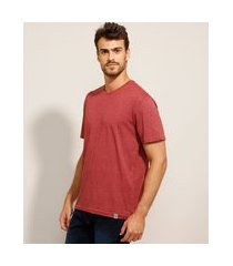 camiseta básica manga curta gola careca vinho