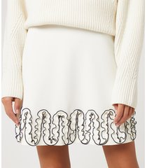 see by chloé women's curle edge skirt - iconic milk - m