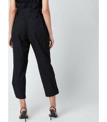 kenzo women's paperbag pants - black - eu 41/uk 12