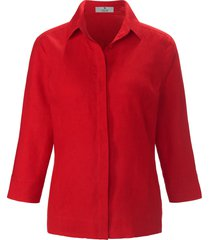 blouse 100% linnen 3/4-mouwen van peter hahn pure edition rood