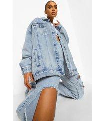 gebleekte oversized vintage jas, ice blue