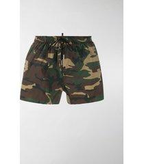 dsquared2 camouflage icon swim shorts