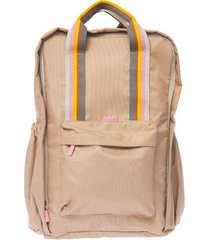 mochila beige matriona cuore tech