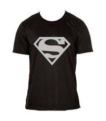 camiseta super homem t-shirt adulta preta
