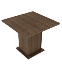 mesa madesa quadrada tampo de madeira 5295 rustic marrom