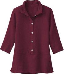 lichte linnen blouse, granaat 42