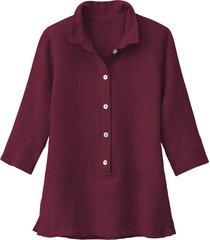 lichte linnen blouse, granaat 38