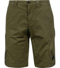 c.p. company twill stretch shorts