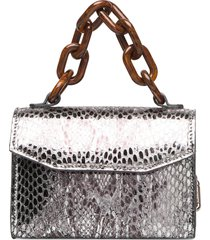 leather bags top handle bags multi/patroon ganni