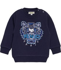 tiger jb b2 bb sweat-shirt trui blauw kenzo