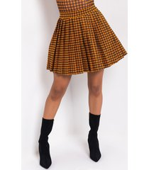 akira swoosh pleated skirt