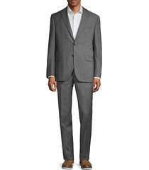 classic-fit glen plaid wool suit