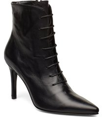 pearl shoes boots ankle boots ankle boot - heel svart jennie-ellen