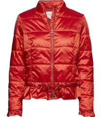 crystal short jacket fodrad jacka röd cream