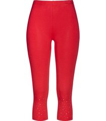 leggings capri con strass (rosso) - bpc selection