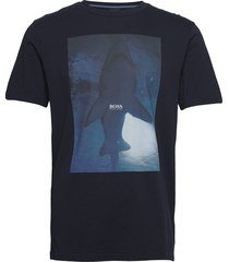 tnoah 1 t-shirts short-sleeved blå boss